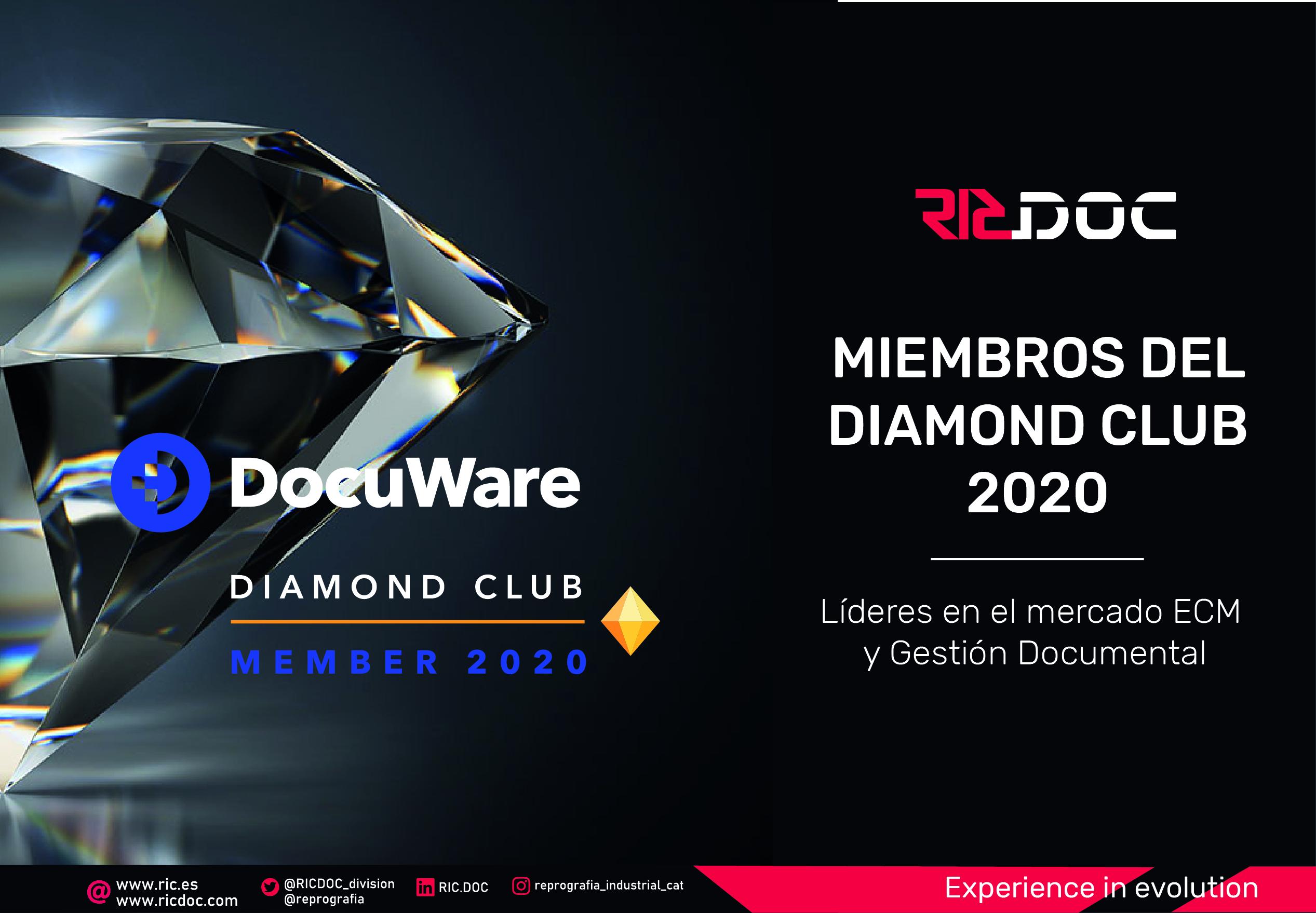 RICDOC ENTRA EN LA CATEGORÍA DIAMOND CLUB PARTNER 2020 DE DOCUWARE