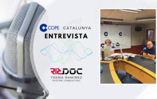 Entrevista en los estudios de COPE Catalunya.