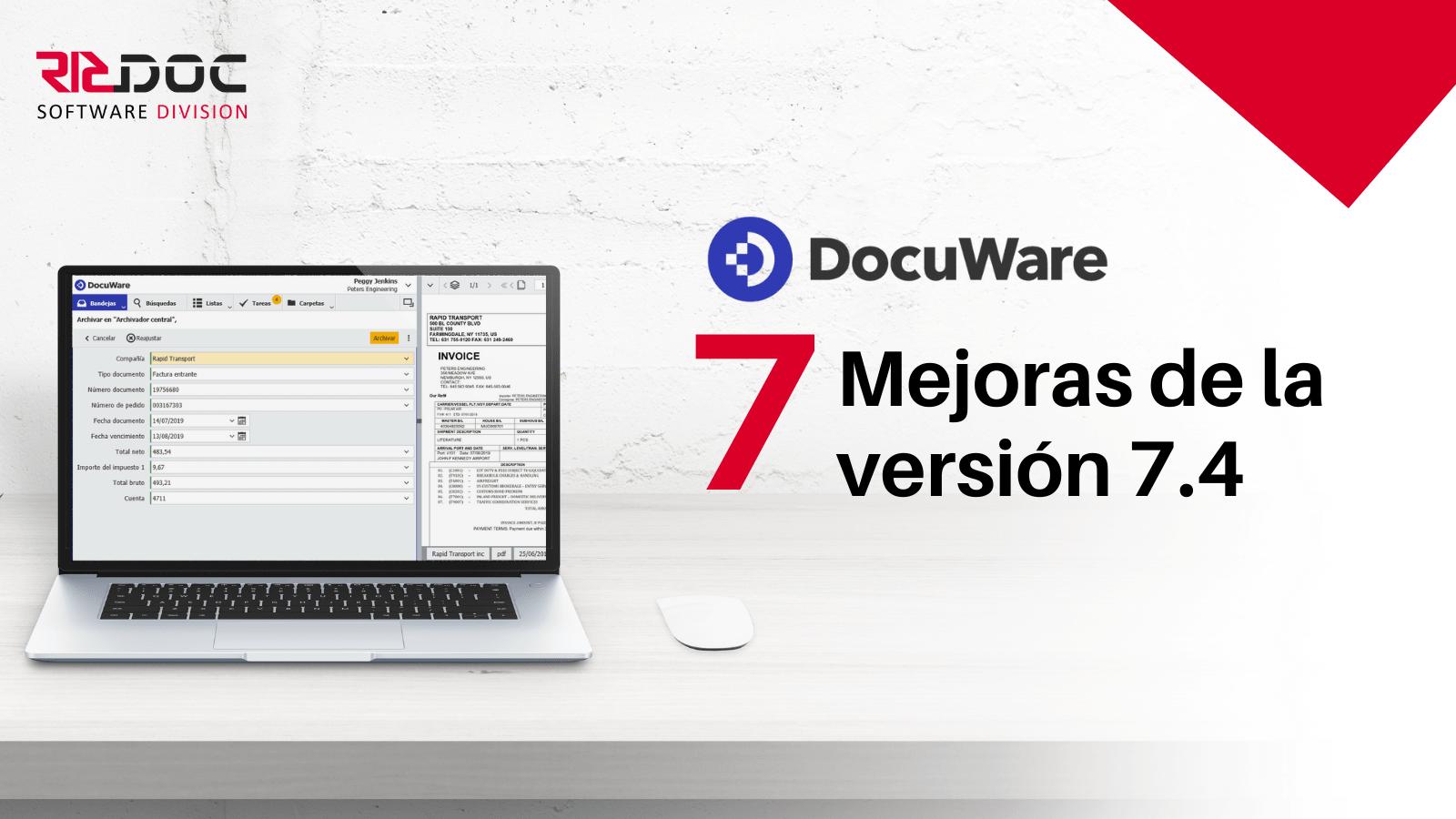 7 Novedades más destacadas de la última versión 7.4 de Docuware